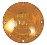 "7"" Warning Light Amber, 2 Wire"