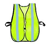 Green Safety Vest with Silver Stripes