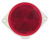 Plastic Mount Reflectors Red