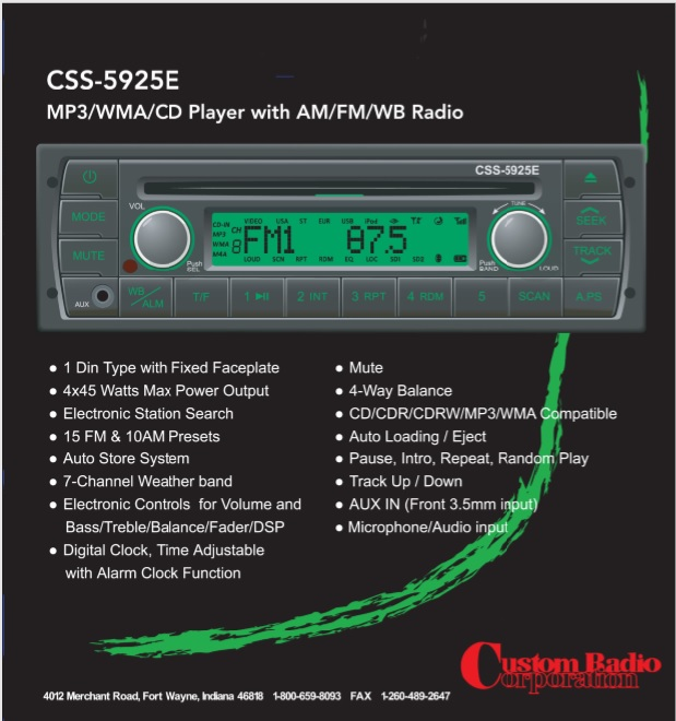 Radio w/ MP3/WMA/CD - School Bus Parts for Sale - A Parts Warehouse