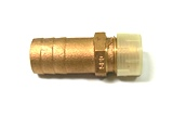 "Straight Pipe to Hose Adapter 1/2"" NPT, 3/4"" Hose"