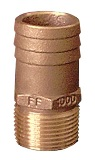 "Straight Pipe to Hose Adapter 3/4"" NPT, 1"" Hose"