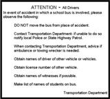 Attention - All Drivers (In case of Accident Instructions)