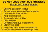 Bus Rules - Numbers 1-10